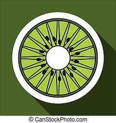 kiwi icon design , vector illustration
