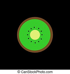 Kiwi icon vector illustration