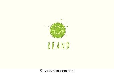 kiwi., imagem, logotipo, vetorial, abstratos