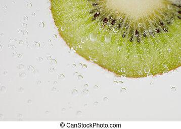 kiwi in bubbles