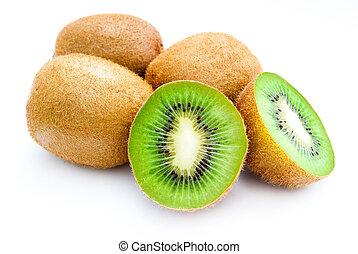 kiwi isolated on a white background