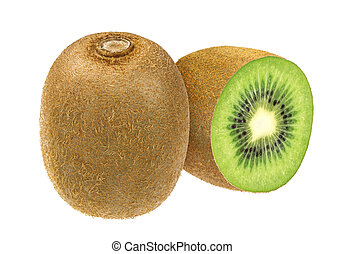 Kiwi isolated on white background with clipping path.