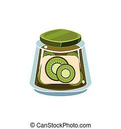 Kiwi Jam  In Transparent Jar