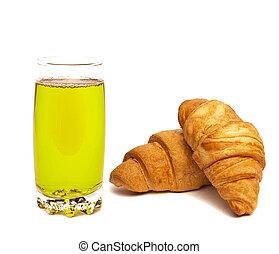 Kiwi juice in glass