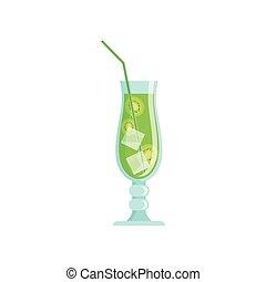 kiwi, jus, exotique, verre, fruit, savoureux, frais