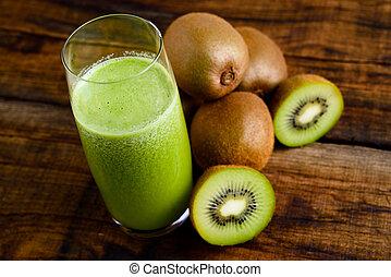 kiwi, jus, vert