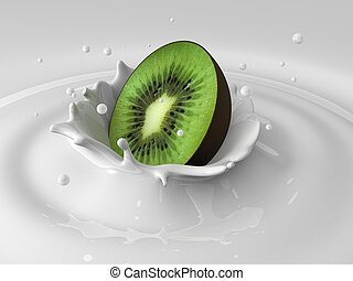 kiwi milk splash