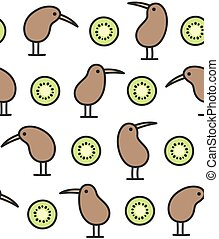 kiwi, model, fruit, vogel