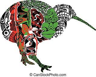 kiwi, motifs