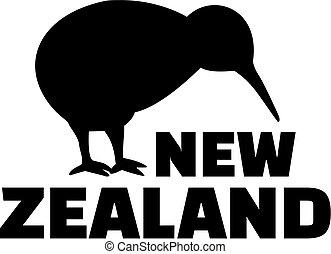 kiwi, nueva zelandia, pájaro