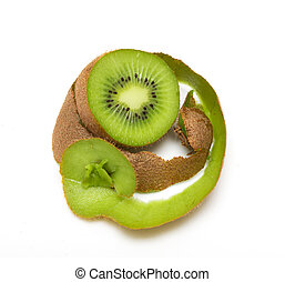 kiwi on a white background