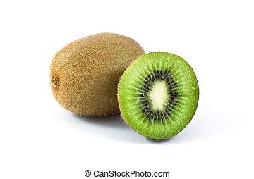 Kiwi on white
