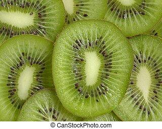 kiwi, rebanadas