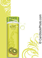 Kiwi shampoo. Decorative background
