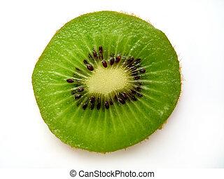 Kiwi Slice II - A single kiwi slice.