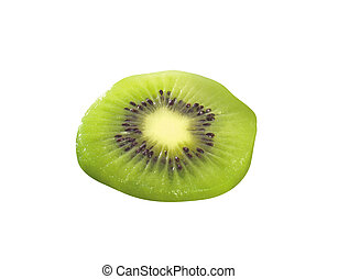 Kiwi slice isolated on white background