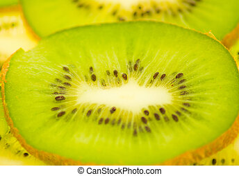 kiwi slices, background, macro
