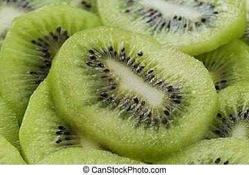 kiwi slices close up
