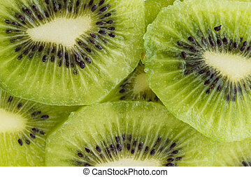 Kiwi slices for background