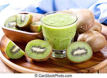 kiwi smoothie with fresh fruits