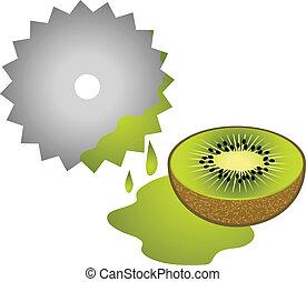 kiwi, suco