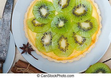 kiwi, torte, torte, und, gewürz