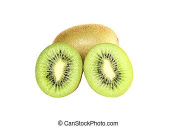 kiwi, vers fruit, vrijstaand, white.
