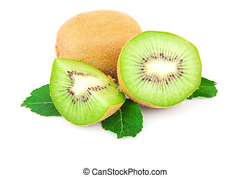 Kiwi with leaves