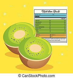kiwi with nutrition facts