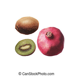 kiwi with pomegranate grain