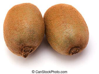 kiwi, witte , fruit, vrijstaand, achtergrond