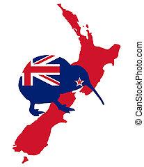 kiwi, zelândia, novo