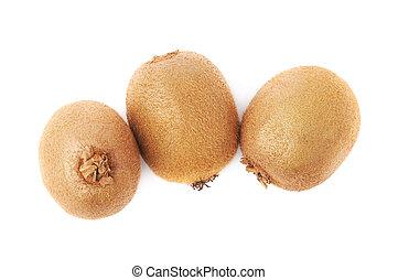 kiwifruits, グループ, 3, 隔離された