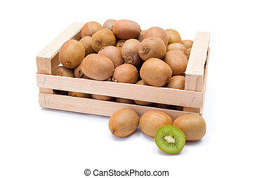 Kiwifruits in box
