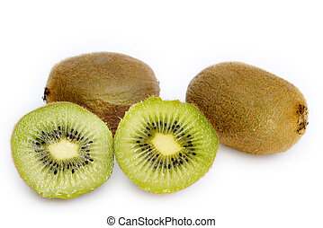 kiwis on white