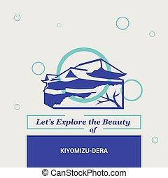 kiyomizu-dera, belleza, nacional, kyoto, dejarnos, explorar...