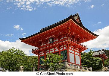 Kiyomizu-Dera Entrance Gate - Gateway at Kiyomizu-dera in...