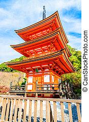 Kiyomizu dera temple in Kyoto at Japan