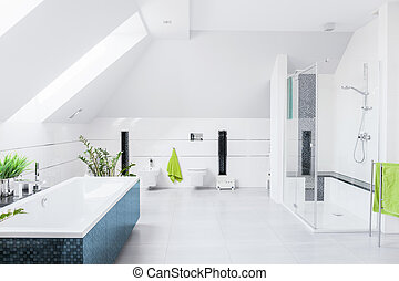 kizárólagos, fényes, fürdőszoba