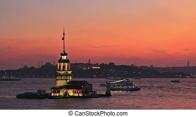 Kiz Kulesi, Istanbul - Maidens Tower in the early evening...