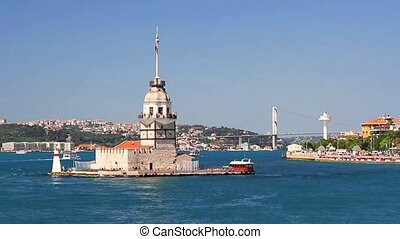Kizkulesi, Historical Lighthouse - Istanbul, Maidens Tower...