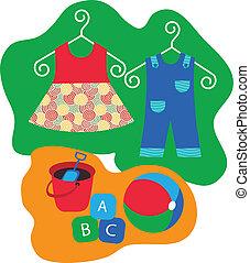 klädgalge, baby, toys, upphängning kläder