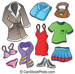 klänning, kollektion, 1
