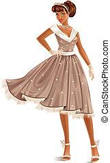 klänning, retro