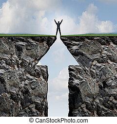 klättrande, till, framgång