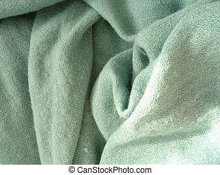 klæde, varm, grønne