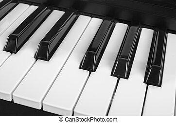 klˇźe, uzavřít, klavír, up, názor