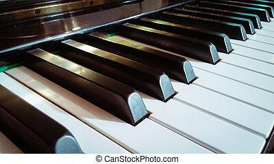 klˇźe, uzavřít, klavír, up