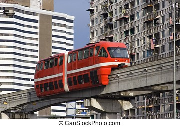 Monorail - KL Monorail, Malaysia.