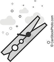 klamra, płaski, grayscale, instrument, -, ikona